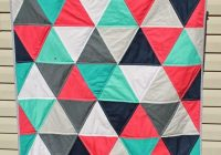 7 equilateral triangle quilts to inspire plus a pillow Elegant Triangle Quilt Pattern Free Inspirations