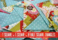 8 half square triangles at once tutorial patchwork posse Half Triangle Square Quilt Patterns