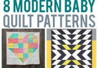 8 scrap friendly modern ba quilts Unique Patchwork Baby Quilt Patterns Inspirations