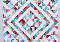 a half square triangle quilt Cool Quilts With Triangles