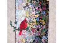 a watercolor quilt to display your cardinal quilting cub Unique Watercolor Quilt Patterns Gallery