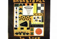 all sports sampler quilt basketball football patternshop Stylish Basketball Quilt Designs Gallery