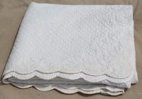 all white wholecloth quilt vintage quilted cotton bedspread Cozy Vintage Quilted Bedspread Inspirations