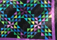 amish ocean waves quilt traditional quilt pattern made in amish style of solid colors and a solid black expertly custom quilted Modern Traditional Amish Quilt Patterns Gallery