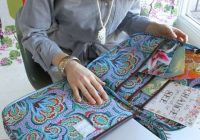 amy butlers nola laptop wrap part of the hapi sunrise Stylish Quilted Laptop Bag Pattern Inspirations