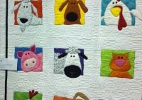 animal applique quilt animal whimsy quilt pattern amy Stylish Applique Quilt Patterns For Children Inspirations