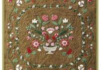 antique flower garden wool applique quilt pattern 10 Interesting Antique Applique Quilt Patterns