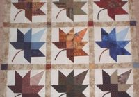 autumn block leaf pattern quilt free knitting patterns black Elegant Autumn Leaf Quilt Pattern Inspirations