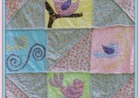 ba girl quilt pattern fast and fun quilt as you go ba bird pattern Stylish Little Girl Quilt Patterns Gallery