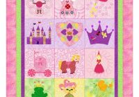 ba girlsquilt princess and castle a girlsimagination quilt pattern Elegant Quilt Patterns For Little Girls Inspirations