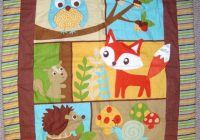 ba quilt woodland animals google search cute quilts 11 Cozy Woodland Creatures Quilt Pattern Inspirations
