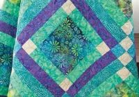 batik fabric quilt kit easy street blue green aqua batik Unique Batik Quilt Patterns Easy Inspirations