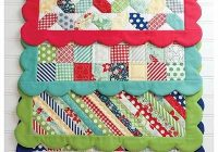 Beautiful easy scrappy placemats to spice up your kitchen placemats 9 Elegant Easy Quilted Placemat Patterns