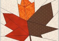 Beautiful foundation quilt patterns using electric quilt 11 Modern Maple Leaf Quilt Patterns Gallery