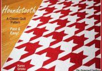 Beautiful houndstooth quilt pattern modern quilt pattern retro quilt pattern twin easy 61 x 82 qtm Modern Houndstooth Quilt Pattern Inspirations