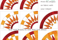 Beautiful inklingo ny wheel with new york beauty all about inklingo blog 11 Unique New York Beauty Quilt Patterns Inspirations