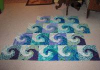 Beautiful ocean waves quilt ocean waves quilt ocean quilt nautical Cool Beach Themed Quilt Patterns