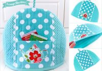 Beautiful pretty teapot cozy sew4home 9 Interesting Quilted Tea Cozy Pattern Gallery