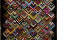 beautiful skills crochet knitting quilting half log Half Log Cabin Quilt Pattern