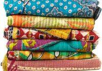 bed cover vintage kantha quilt vintage kantha ralli sari 9 Stylish Vintage Kantha Quilts Gallery