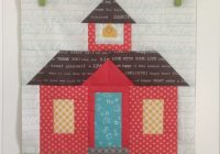 bee in my bonnet schoolhouse block tutorial Interesting Schoolhouse Quilt Pattern Inspirations