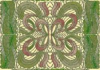 bfc1170 art nouveau quilt set Stylish Art Nouveau Quilt Patterns