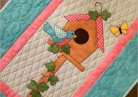 birdhouse table runner quilt pdf downloadable pattern Elegant Birdhouse Quilt Patterns Gallery