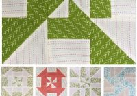 block 6 disappearing pinwheel sampler quilt block of the Interesting 4 Inch Square Quilt Pattern