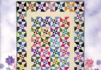 book quilt in a day double pinwheel quilt eleanor burns Modern Double Pinwheel Quilt Pattern Inspirations