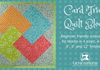 card trick quilt block from our free quilt block pattern library Interesting 4 Inch Square Quilt Pattern