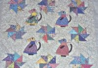 cat quilts Cozy Twisted Tails Mystery Quilt Gallery