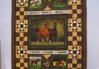 caterpillar fabric panel quilt ideas you have to see horse Unique Wildlife Quilt Fabric Panels Inspiration Inspirations