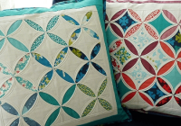 cathedral window pillows are all done machine quilting Cozy Cathedral Quilt Patterns Gallery