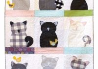 cats and canaries applique quilt sewing pattern jennifer Interesting Applique Cat Quilt Patterns
