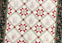 christmas cardinals pdf downloadable hand embroidery pattern Elegant Embroidered Quilts Patterns Inspirations