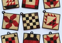 classic patch pot holders pattern Stylish Quilted Pot Holder Pattern