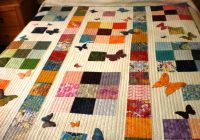 colourful patchwork quilt with applique butterflies lap Interesting Single Bed Patchwork Quilt Patterns Gallery