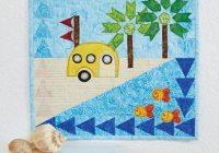 Cool beach bum vintage camper quilt pattern download Cool Beach Themed Quilt Patterns