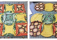 Cool cathedral window quilt freaky fast mock accuquilt 9 New Cathedral Window Quilt Patterns Inspirations