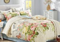 cotton vintage style bedding set ab side duvet covet set abstract art painting pattern full queen size red white and blue bedding sets duvet cover set Interesting Vintage Style Quilt Covers
