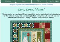 Cozy keepsake quilting live love meow shop fun kits from the 9   Keepsake Quilting Fabric For Life Gallery