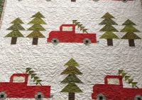 cozy little quilts vintage christmas quilt back from the Cozy Vintage Christmas Quilt