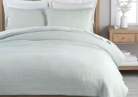 Cozy pick stitch handcrafted cottonlinen quilt shams porcelain blue Modern Pottery Barn Quilts Gallery