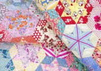 Cozy red pepper quilts hand pieced hexagon star quilt Unique Hand Piecing Quilt Patterns Inspirations