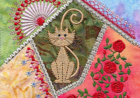 crazy gorgeous 18 crazy patchwork embroidery designs Cool Quilt Embroidery Patterns