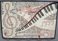 create your own music themed quilts to express yourself Modern Music Themed Quilts Gallery