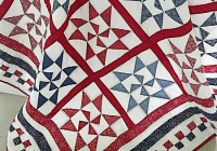 crisp contrasts make a stunning patriotic quilt quilting Elegant Patriotic Quilts Patterns