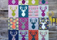deer silhouette quilt Unique Silhouette Quilt Patterns