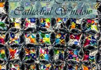 denim faux cathedral window quilt the quilting room with mel Mock Cathedral Window Quilt Pattern Inspirations