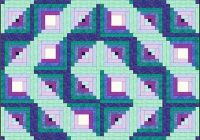 design a log cabin quilt pattern that starts with a picture 11 Cozy Quilting Log Cabin Pattern